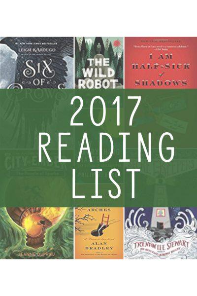 Twenty Books for 2017