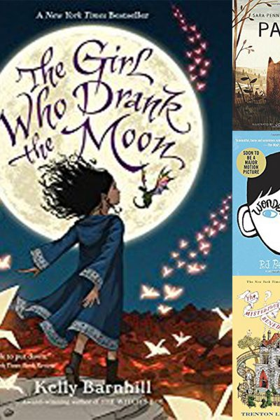 collage of middle grade fiction covers
