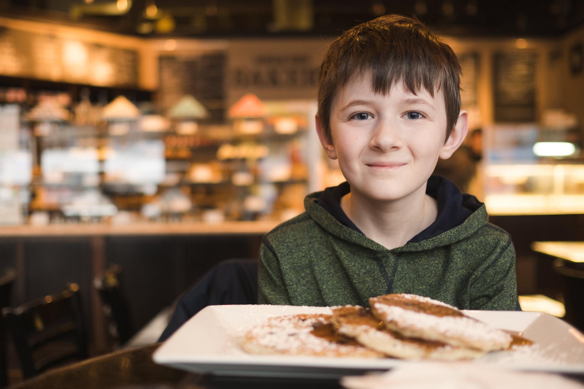 Boy at bakery