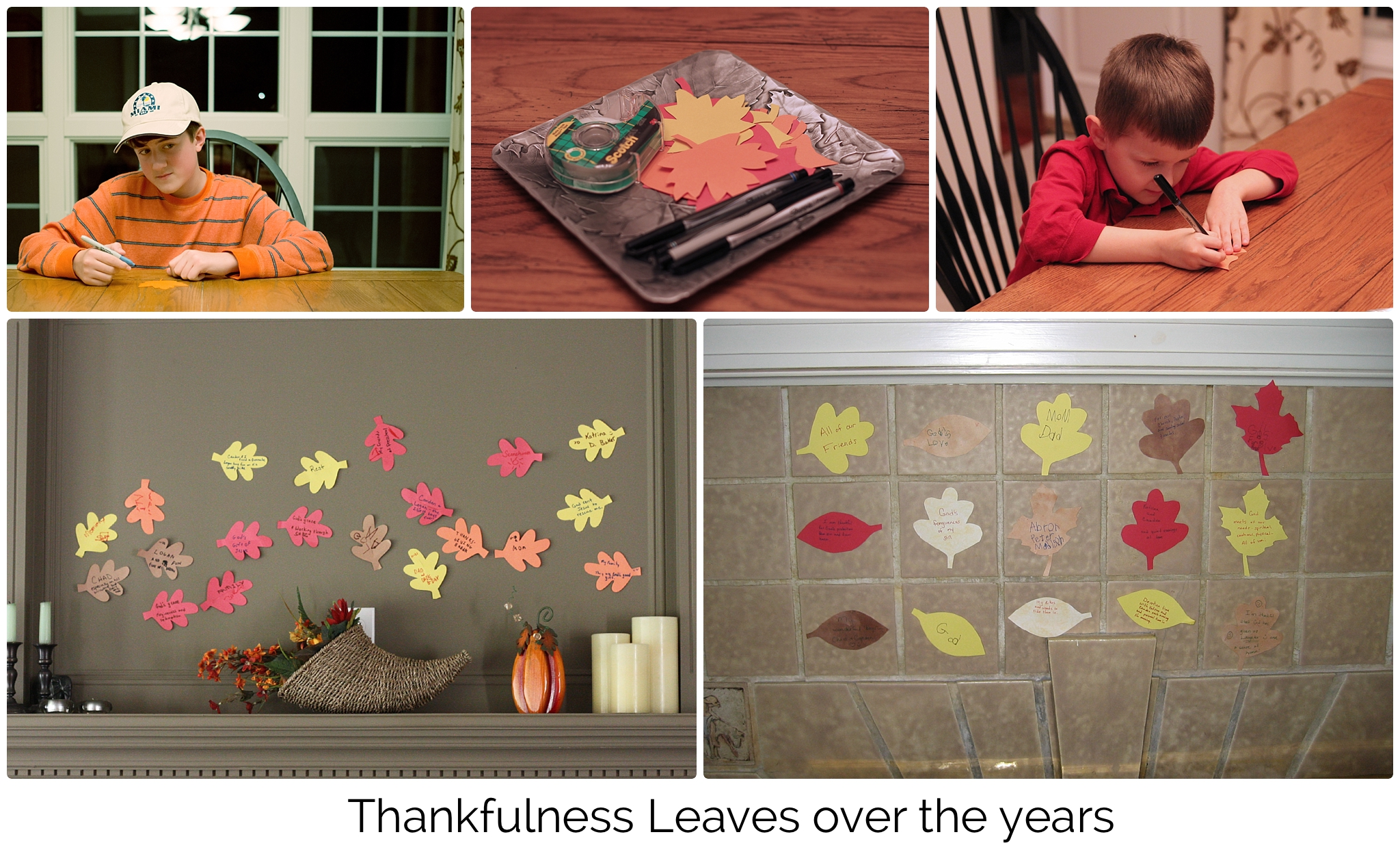 Thankfulness Leaves