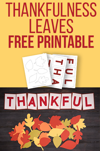 Thankfulness Leaves Free Printable