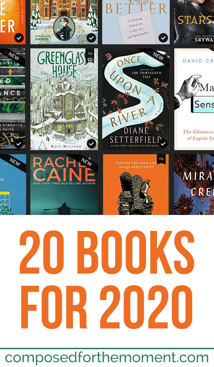 20 books I hope to read in 2020. A mix of fiction and nonfiction, plenty of middle grade and YA fiction...lots to look forward to!